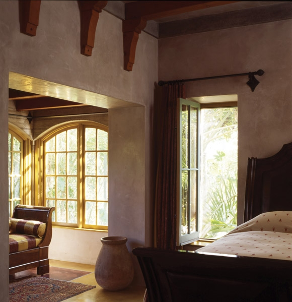 strawbale bedroom